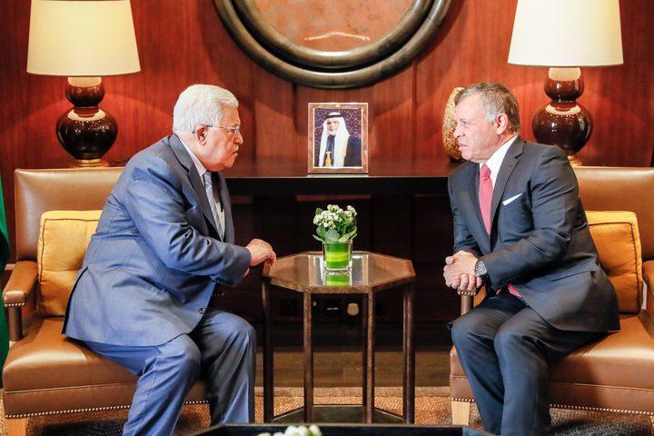 الرئيس عباس يلتقي العاهل الأردني اليوم