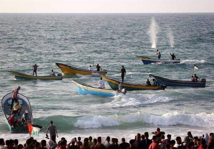 انطلاق المسير البحري الـ 20 شمالي قطاع غزة