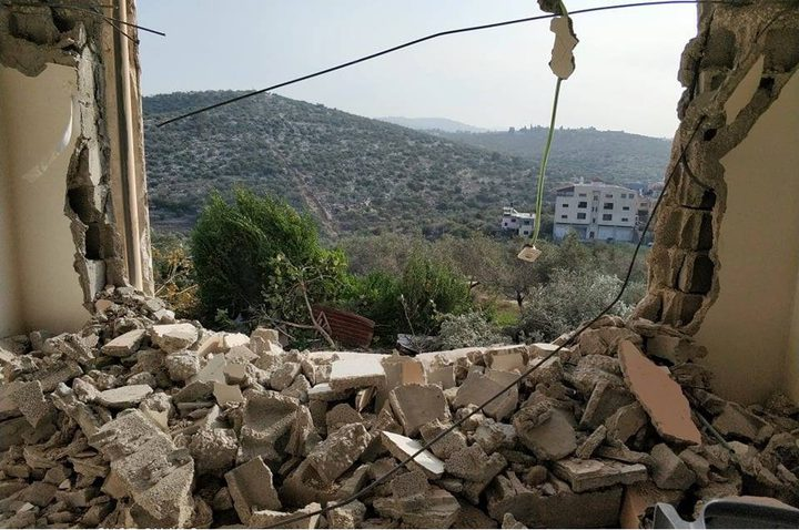 إصابات - الاحتلال يهدم منزل الشهيد نعالوة شمال طولكرم