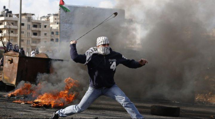 مواجهات مع الاحتلال في تقوع جنوب شرق بيت لحم