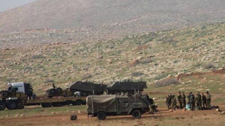 الاحتلال ينشر عشرات الآليات الثقيلة عند مدخل العقبة