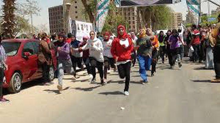 انطلاق شعلة مارثون فلسطين الدولي