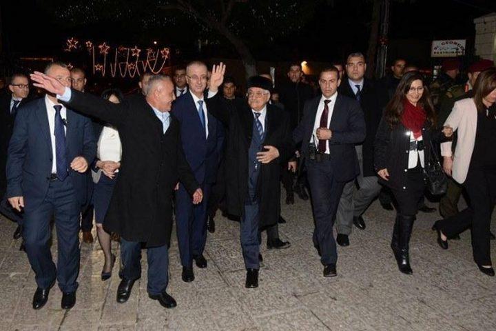 الرئيس يصل بيت لحم للمشاركة في احتفالات أعياد الميلاد