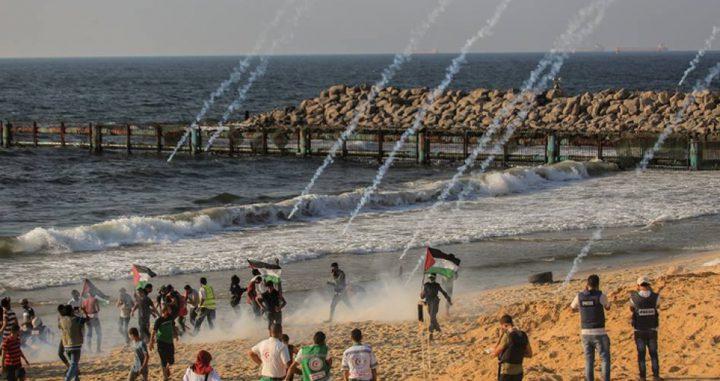 إصابة 13 مواطناً بالرصاص والاختناق في المسير البحري الـ 21