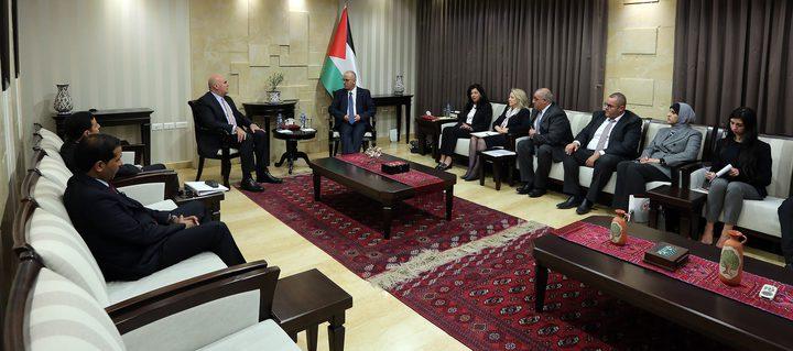 الحمد الله يلتقي وزير الدولة لشؤون الاستثمار الأردني