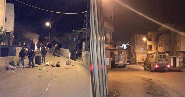 اندلاع مواجهات مع الاحتلال في بلدة الخضر