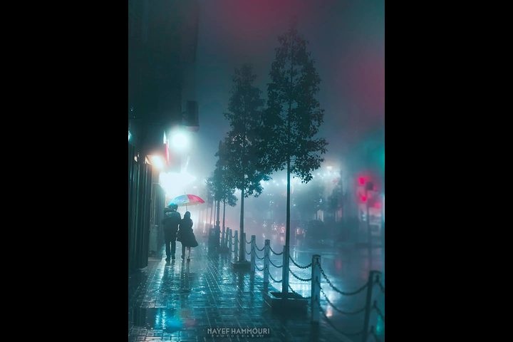 استمرار تساقط الأمطار