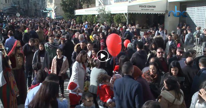 حركة سياحية تشهدها بيت لحم بالتزامن مع احتفالات الأعياد