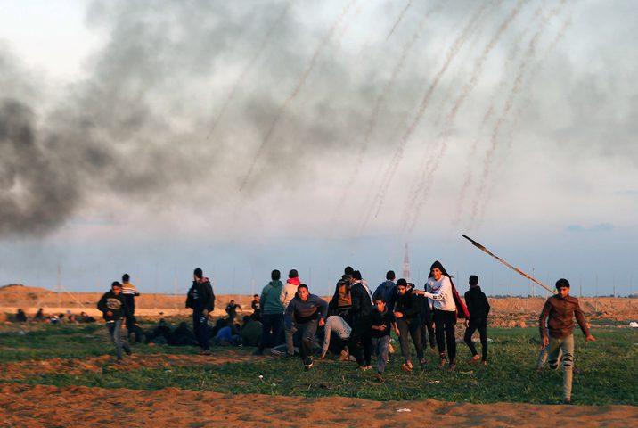 شهيد واصابات بالرصاص الحي وبالاختناق شرق غزة