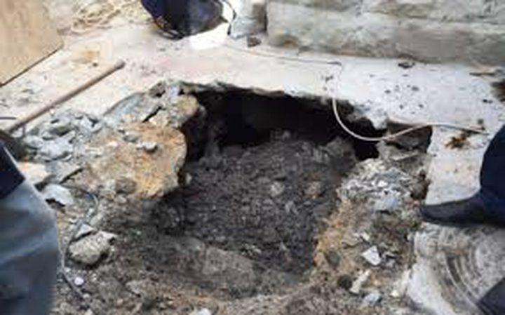 انهيارات أرضية جديدة في بلدة سلوان بسبب حفريات الاحتلال