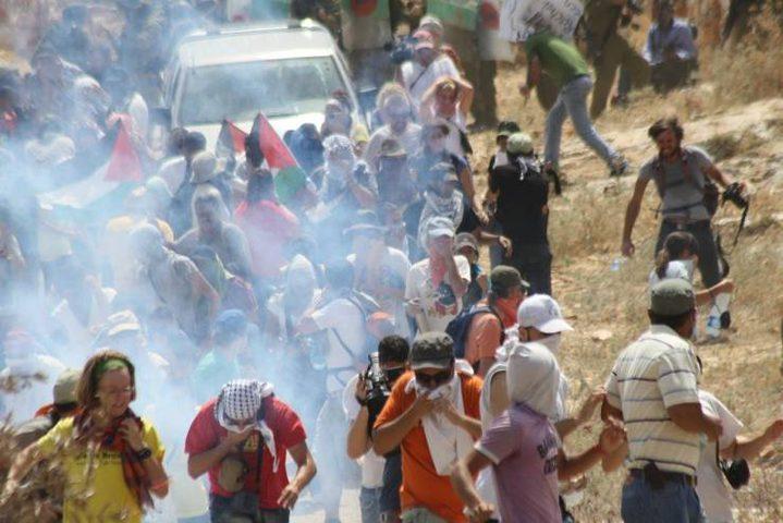 الاحتلال يقمع مسيرة بلعين الاسبوعية