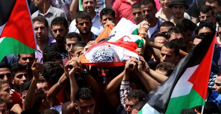 تشييع جثمان الشهيد فياض في خان يونس