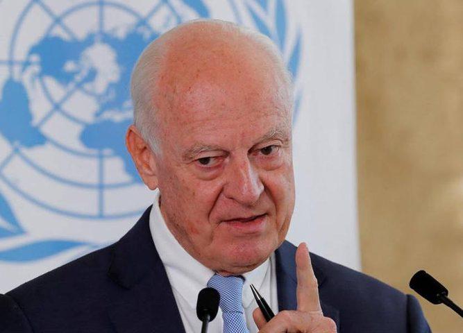 دي ميستورا يُحذر من تداعيات سحب القوات الامريكية من سوريا