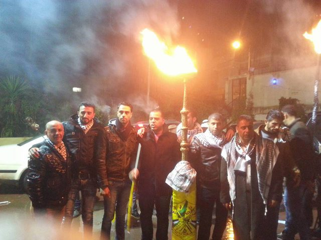 إيقاد شعلة انطلاقة الثورة في جنين