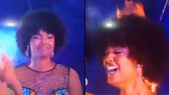 ملكة جمال إفريقيا كادت تحترق في ليلة تتويجها