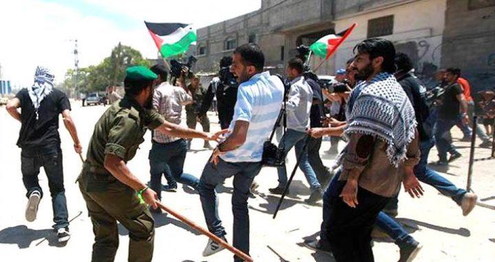 النقابةتستنكر اعتداء أمن حماس على الصحفيين وتطالب بفتح تحقيق