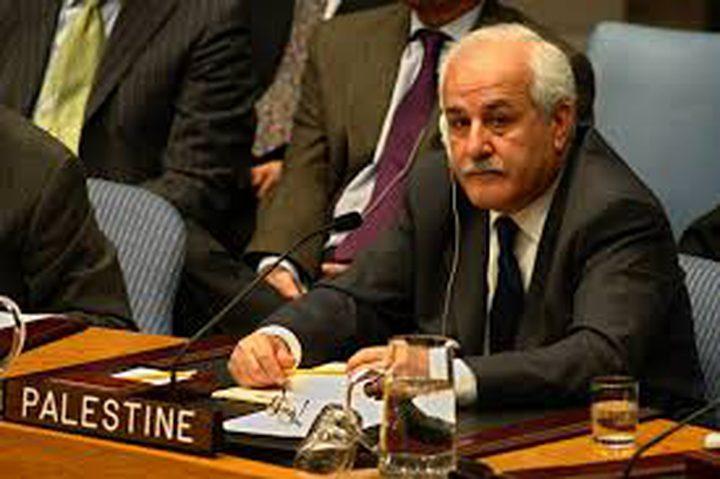 منصور: ندعو المجتمع الدولي لمحاسبة إسرائيل
