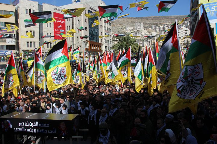 مهرجان مركزي في نابلس إحياءً لذكرى انطلاقة الثورة الفلسطينية
