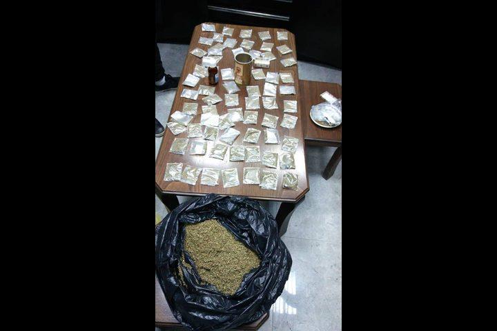 القبض على 3 من اخطر تجار ومروجي المخدرات في نابلس