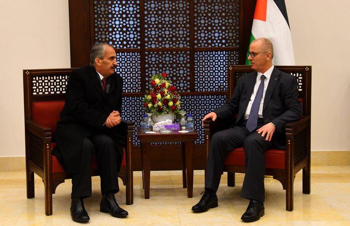 الحمد الله يستقبل وزير الداخلية الأردني