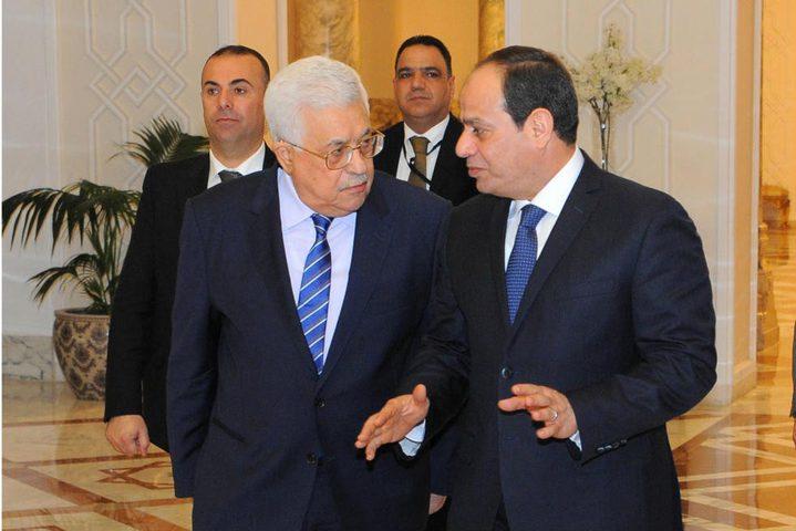 الرئيس عباس يبعث رسالة شكر لنظيره المصري