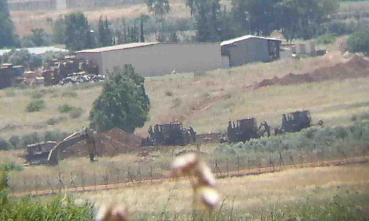 الاحتلال يخطر بوقف العمل في أراض شرق طمون