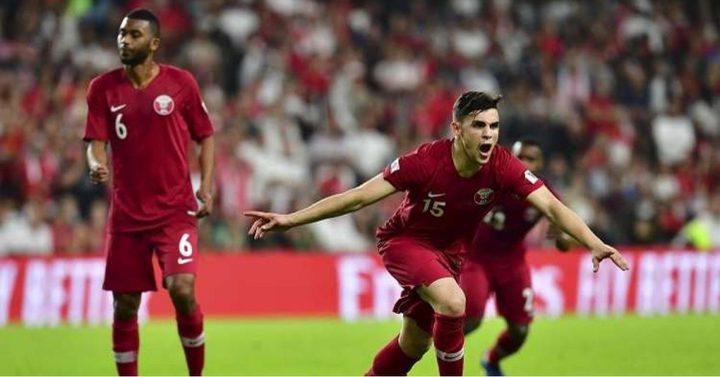 العنابي القطري يهزم نظيره اللبناني في كأس آسيا 2019