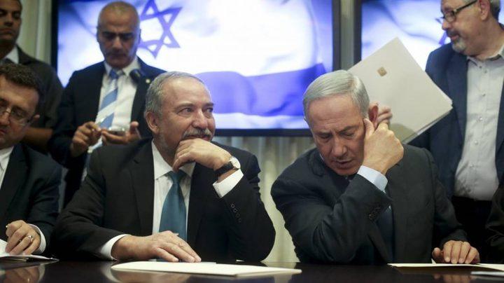 ليبرمان: سياسة حكومة نتنياهو بشأن قطاع غزة فشلت