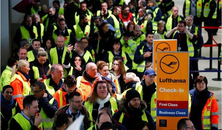 إلغاء أكثر من 600 رحلة في مطارات ألمانية