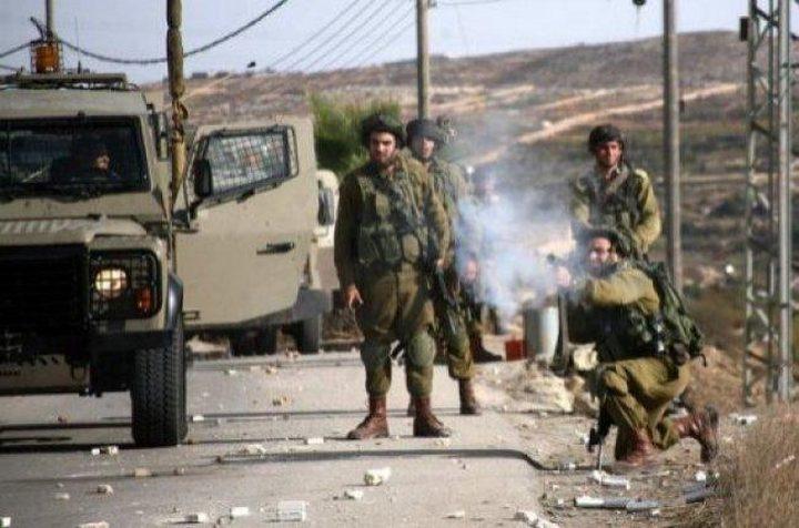إصابات بالاختناق في مواجهات مع الاحتلال في تقوع