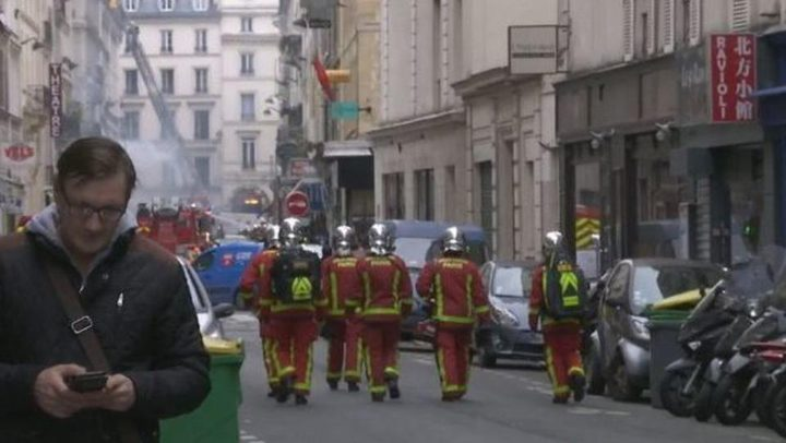 ثلاثة قتلى وعشرات الجرحى جراء انفجار للغاز في مبنى وسط باريس