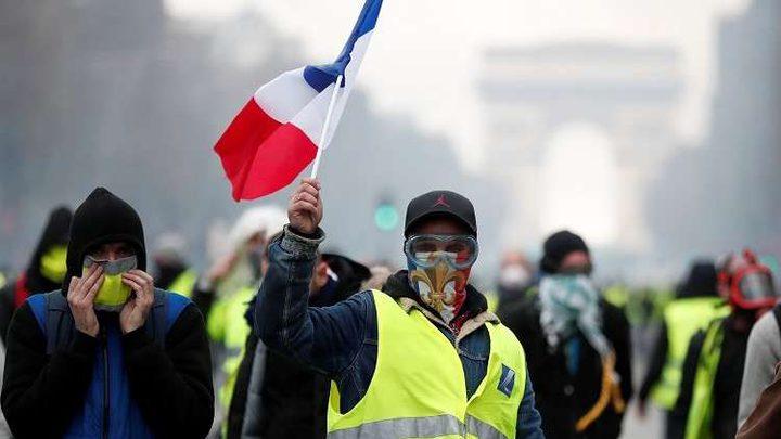 """توقيف 43 شخصا في احتجاجات """"السترات الصفراء"""" في باريس"""