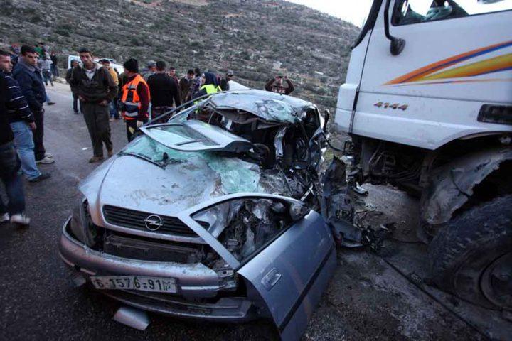 مصرع سيدة وإصابة آخر بحادث تصادم غرب رام الله