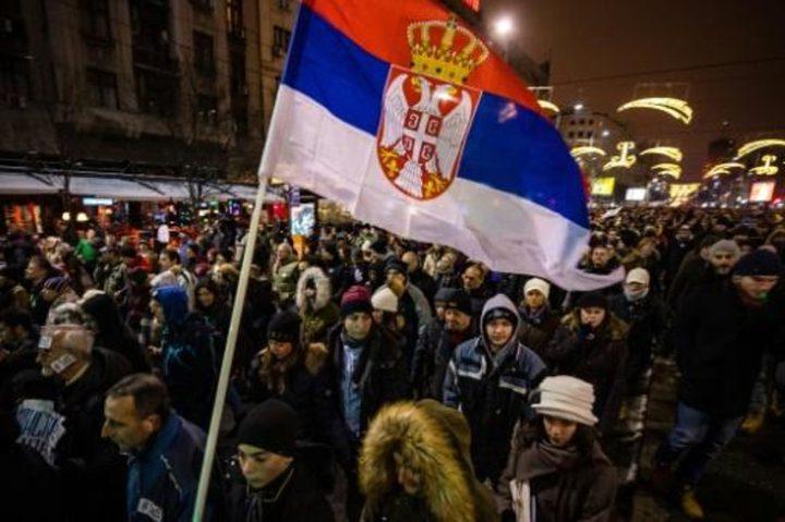 بلغراد..الآلاف يتظاهرون ضد الرئيس الصربي