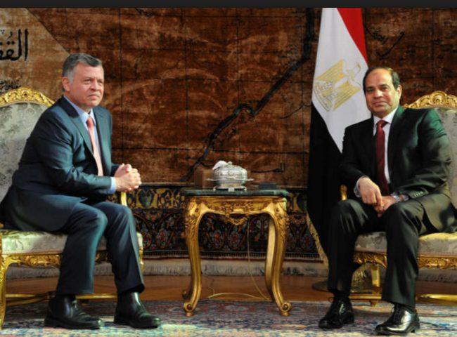 مصر والأردن تؤكدان ضرورة تكثيف الجهود للتوصل لسلام