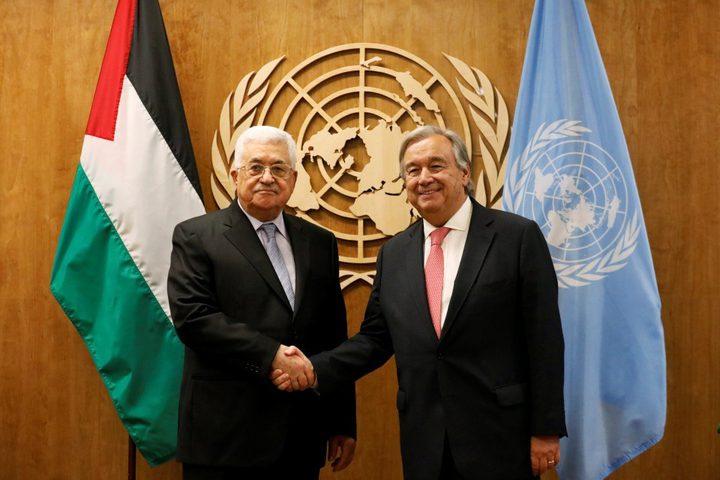 الرئيس يلتقي أمين عام الأمم المتحدة ورئيسة الجمعية العامة