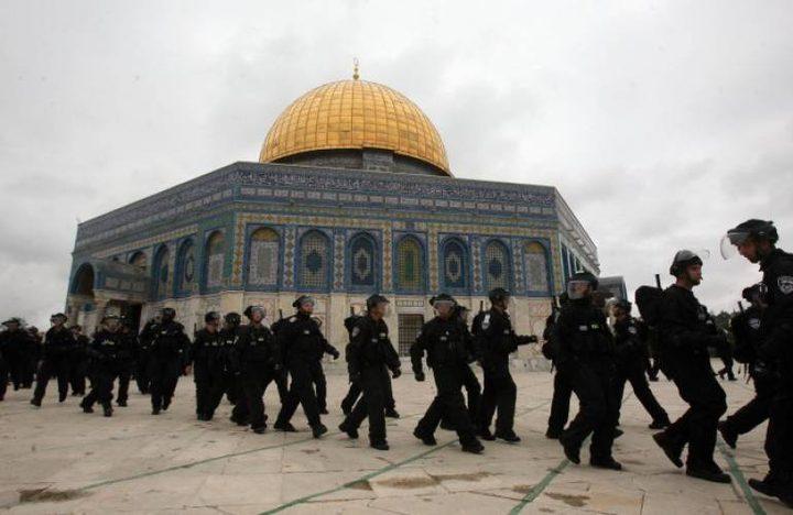 الاحتلال يواصل حصاره لمسجد قبة الصخرة
