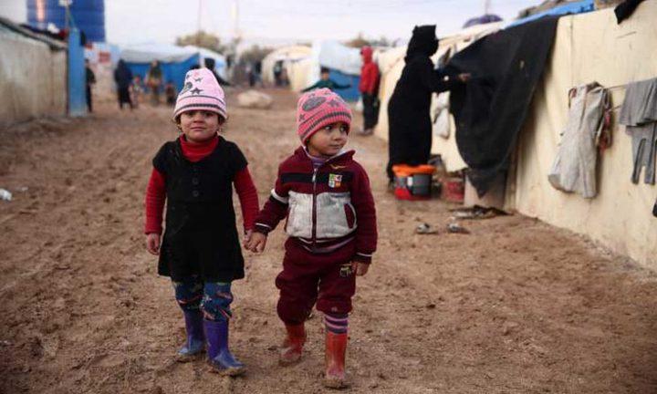 وفاة 15 طفلاً نازحاً غالبيتهم من الرضع في سوريا جراء البرد