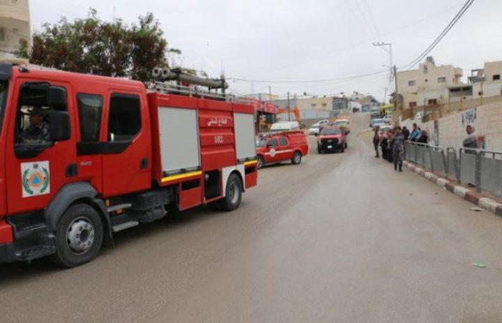 الدفاع المدني: 94عملية تدخل وتقديم مساعدة منذ الصباح بالخليل