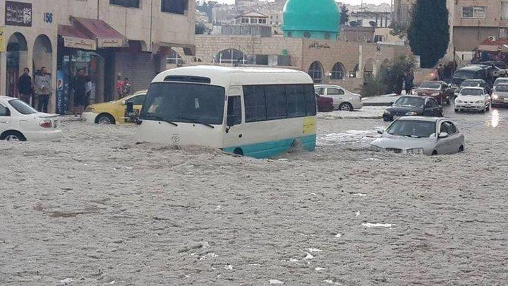 الأردن تعلن حالة الطوارئ القصوى بسبب الأحوال الجوية