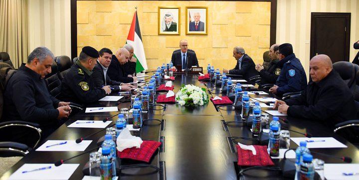 الحمد الله يترأس اجتماع قادة المؤسسة الأمنية