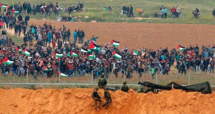 الاحتلال يصدر تعليماته للتعامل مع مسيرات العودة اليوم