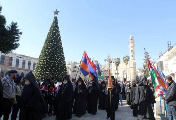 بيت لحم تحتفل بعيد الميلاد حسب التقويم الأرمني