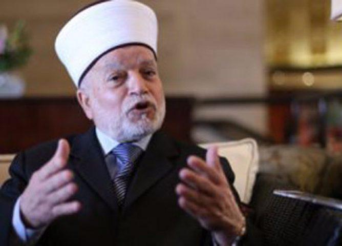 المفتي حسين يؤكد أهمية زيارة المسلمين وعلمائهم لمدينة القدس
