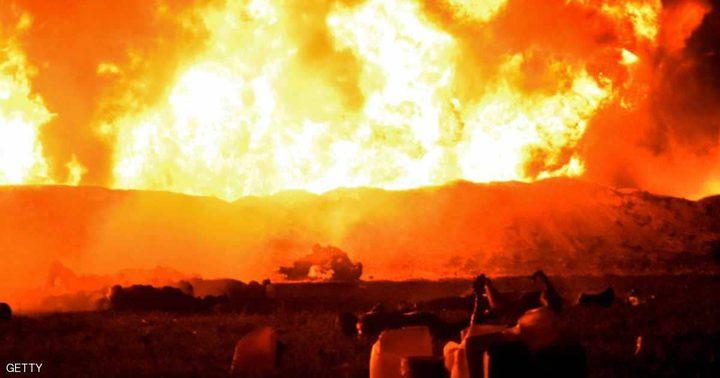 انفجار خط أنابيب وقود فى المسكيك يحصد 66 قتيلا