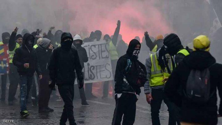 اشتباكات تنهي أسبوع السترات الصفراء العاشر في فرنسا