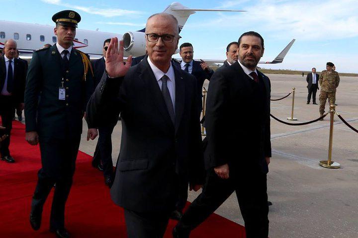 رئيس الوزراء الفلسطيني، د. رامي الحمد الله يصل بيروت للمشاركة في القمة العربية