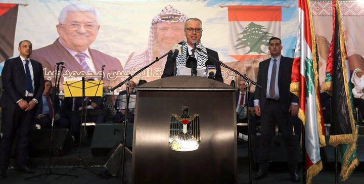 الحمد الله يشارك في العرس الجماعي الفلسطيني- اللبناني