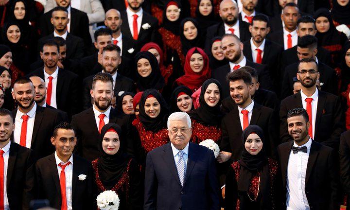 """الرئاسة و""""م.ت.ف"""" تنظمان عرسا جماعيا لـ 400في مخيمات لبنان"""
