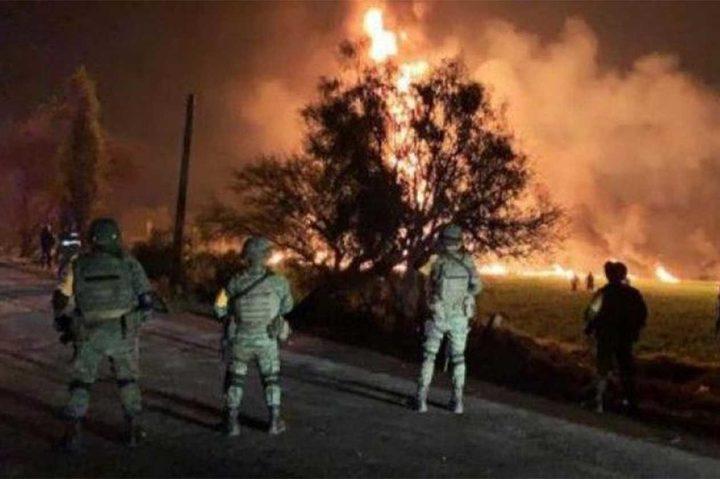 73 قتيلًا بانفجار خط أنابيب وسط المكسيك